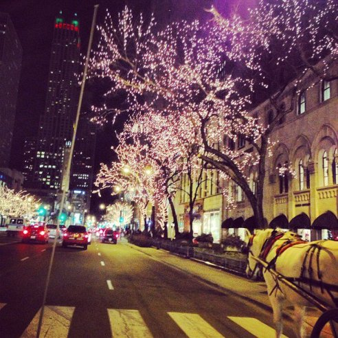 a Christmas night at the Michigan Avenue