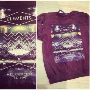 ELEMENTS Burgundy sweater