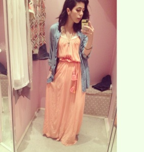 A maxi light cotton Grecian dress with braided tassel belt. Lazy summer days, beach involved & a cute wedge!