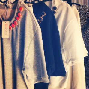 Lazy days cotton sweaters~*  Minimalistic embellishment  goes a long way!